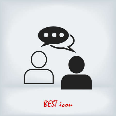 speaking of people, the chat icon stock illustration Vector Illustratie