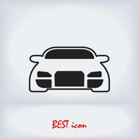 Car vector icon, stock illustration flat design style