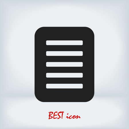 checklist icon, stock illustration flat design Vectores