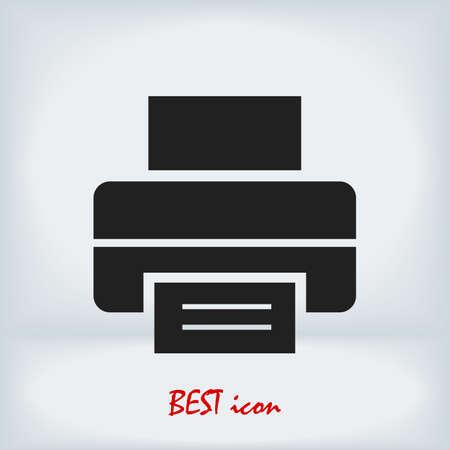 print icon, stock illustration flat design style