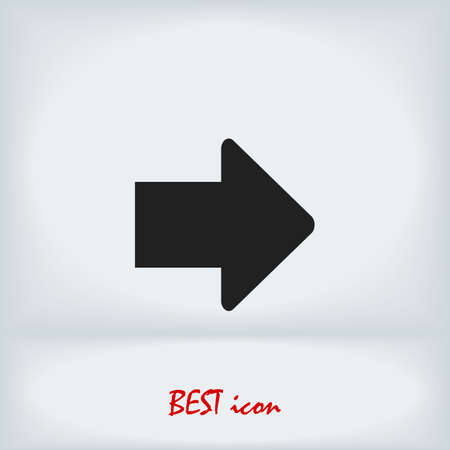 arrow icon, stock illustration flat design style
