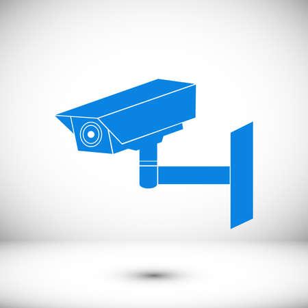 Video surveillance sign. CCTV Camera stock illustration flat design style