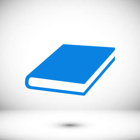 Single Book icon, stock illustration flat design style