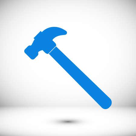 hammer icon, stock illustration flat design style