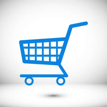shopping cart icon, stock illustration flat design style