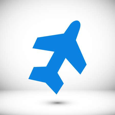 Plane icon stock illustration flat design style