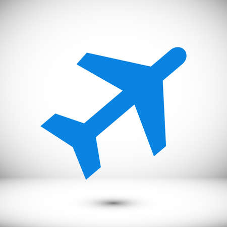 Aircraft Web icon, stock illustration flat design style Vectores