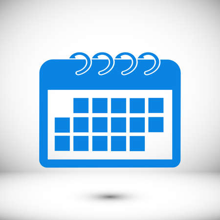 Calendar Icon, stock illustration flat design style