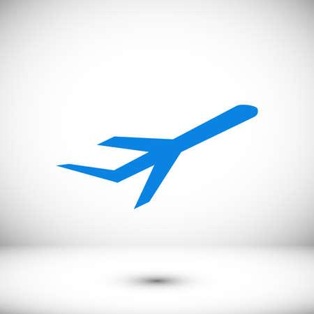 Plane icon vector, stock vector illustration flat design style