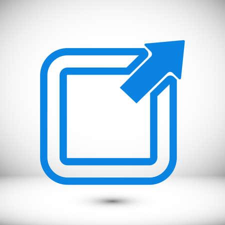 share icon vector, stock vector illustration flat design style
