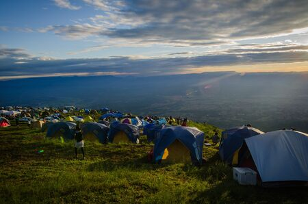 Camp on mountain , Thailand photo