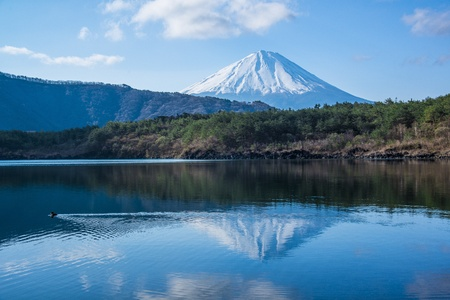 Mount Fuji reflecting photo