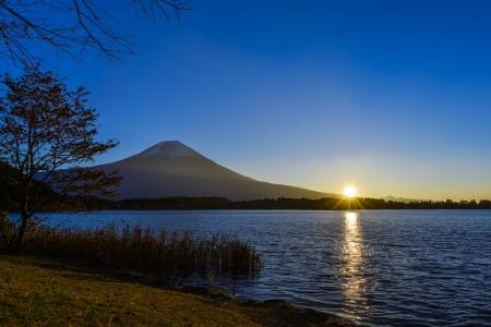 Mount Fuji with sunrise photo