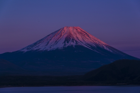 Pink Summit Mount Fuji photo