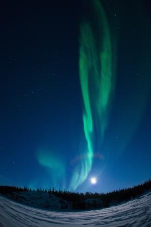 polaris: Northern Lights Stock Photo