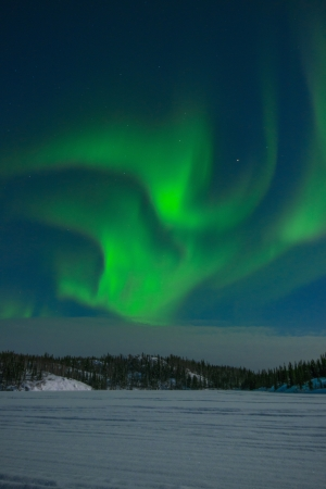 the aurora: Northern Lights Stock Photo