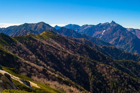 autumn japan alps scenery
