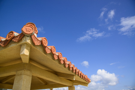 Okinawa Tile and Blue Sky