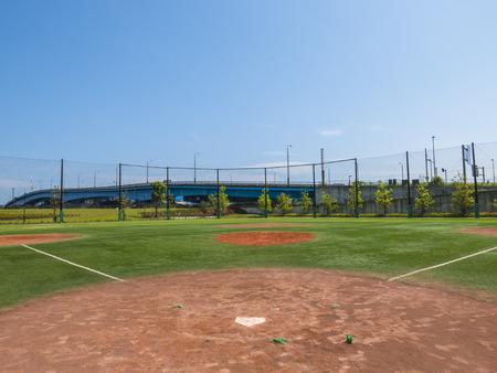 baseballs: View of a Baseball Field Stock Photo