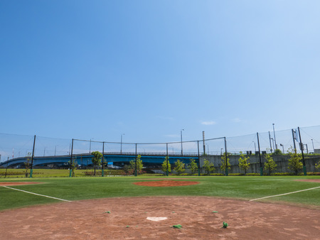 View of a Baseball Field Stock Photo