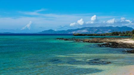 okinawa beach Stock Photo