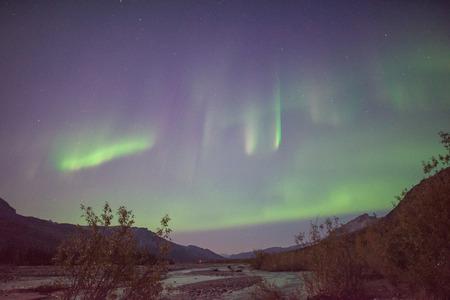 aurora: Aurora borealis in Brooks Range