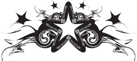 Black abstract star Stock Vector - 11124277