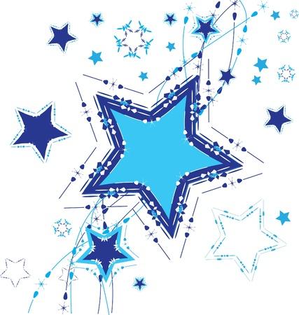 Star background. Vector illustration.  Çizim