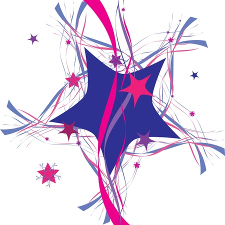 x mas: decorative star, abstraction