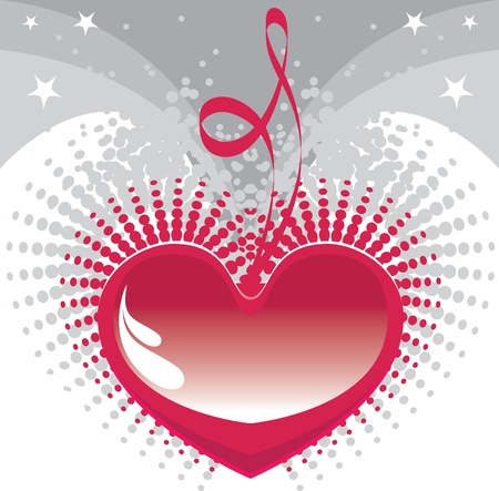 my heart for you, heart background Stock Vector - 11242176