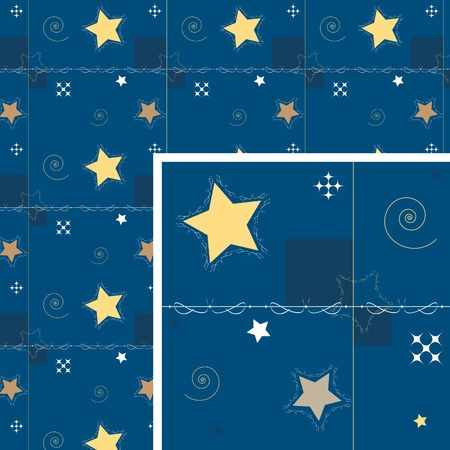 Seamless background. Star and decoration.