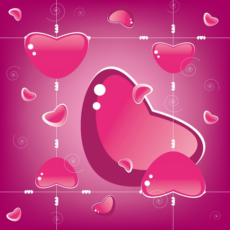 Seamless heart background. Valentines Day. Vector