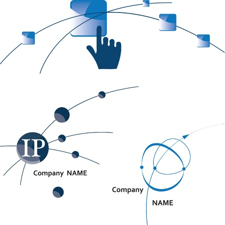 network logo: Comunicazione logo Global. Icona. Internet. Wireless.