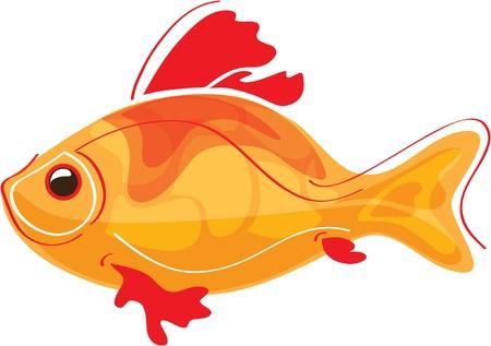 carp fishing: pesce rosso stilizzato Vettoriali