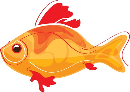 carp fishing: stylized goldfish