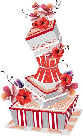 cake background: big wedding cake Illustration