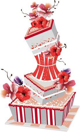 torte: big wedding cake Illustration