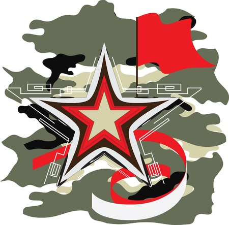 military and war icons: star background