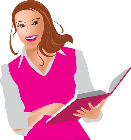 superintendent: Mujer joven con libro