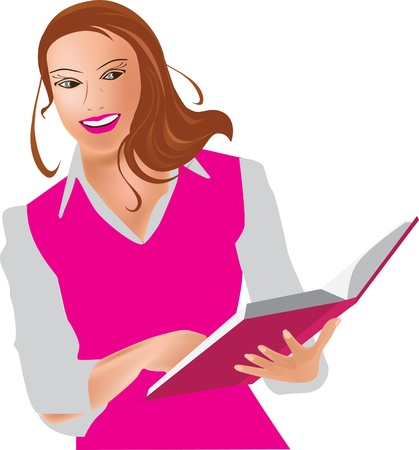 Young woman with book Stock Vector - 11784816