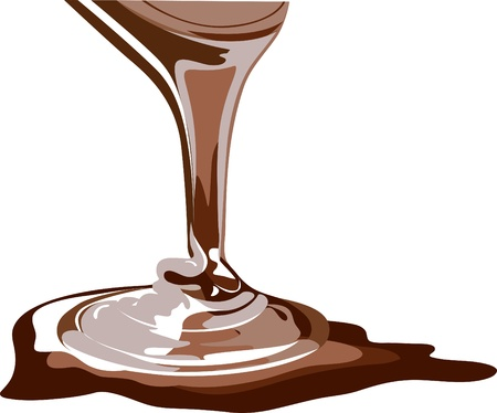 flowing: Flowing chocolate, real honey, brown sauce  Illustration