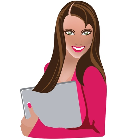 business woman with laptop Stock Vector - 11784809