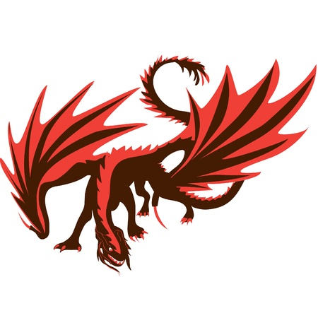 Dragon illustration  Vector