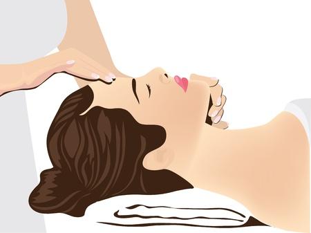 massage therapie: gezichtsmassage