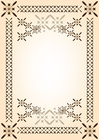 congratulations text: frame, template for a document or congratulations, illustration