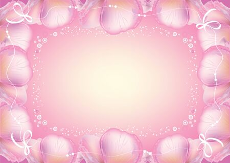 gentleness: Abstract flowers background with place for your text, frame illustration