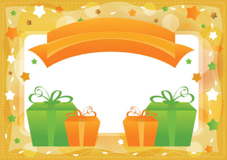 Greeting card, vector template background Vector