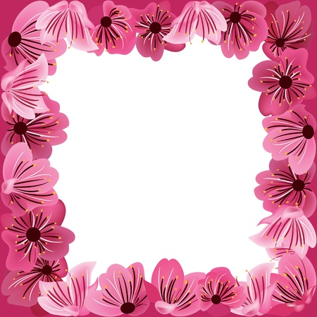 flowers frame,  floral vector background Stock Vector - 12761630