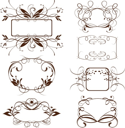 marcos decorados: marco de época adornado, fondo de desplazamiento, los elementos decorativos