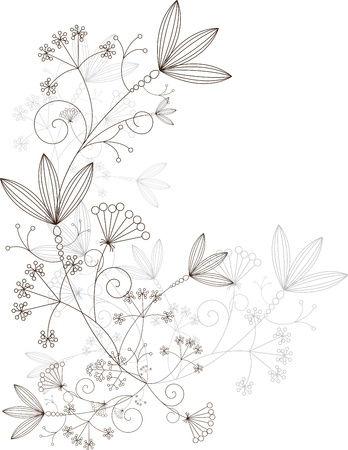 grasses design elements, grassy ornament Vector